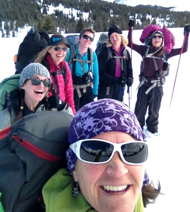 Participants from CMC's Intro to Backcountry for Women class on their hut trip.