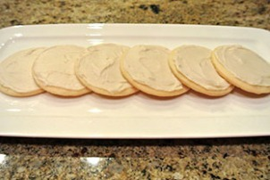 Organic Powdered Sugar Cookies, frosted and ready to eat!